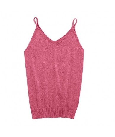 2017 Sexy Glittering Knitted Tank Tops Women Camisole Vest Gold Thread Top Vest Sequined Stretchable Slim Tops 9 Color - HP ...