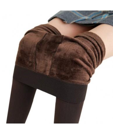 S-3XL Plus Size Warm Winter Leggings Women Warm Velvet Pants Leggins High Waist Thick Legging Winter Pant Trousers Women - C...