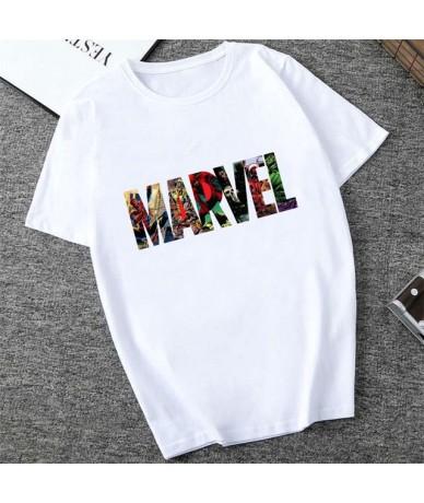 MARVEL Studios White T shirt Captain America Iron Spider Short Sleeve Vogue The Avengers Summer Tee Tops - XWT-0330-white - ...