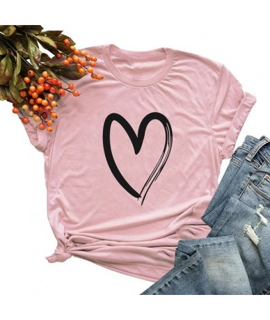5XL Plus Size Cotton T-Shirt Women Slogan T shirt Short Sleeves O Neck Letters Print Cool Tees Casual Tops Funny tshirt tuni...