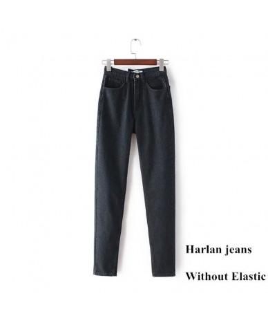 Mom Jeans High Waist Denim Pants For Women Vintage Boyfriend Black Blue Korean Ladies Jeans Trousers Femme 2019 Large Plus S...
