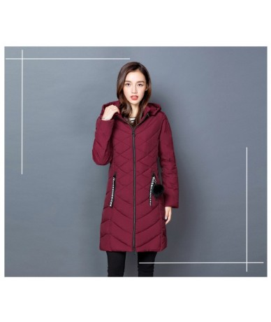 Cheap wholesale 2018 new autumn winter Hot selling women's fashion casual warm jacket female bisic coats Y1711 - Red - 46390...