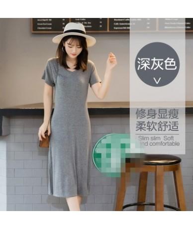 Summer 2019 the new show thin big yards short sleeve v-neck render women dress cheap wholesale - 4 - 4Q3931870013-6