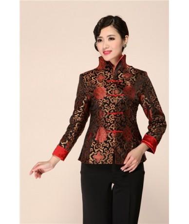 Autumn New Women Satin Jacket Chinese Vintage Formal Clothing Elegant Flower Coat Long Sleeve Outwear Plus Size 3XL 4XL 2099...