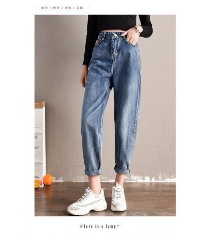 Jeans Women Mom Jeans Pants Boyfriend Jeans for Women with High Waist Push Up Large Size Ladies Jeans Black Denim Harem Pant...