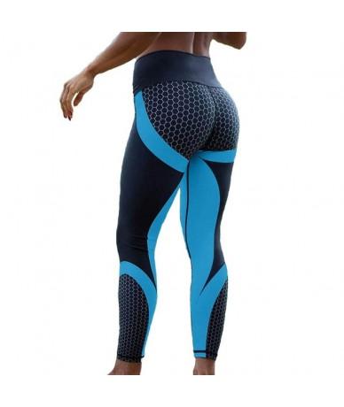 Mesh Pattern Print Leggings Fitness Leggings For Women Sporting Workout Leggins Jogging Elastic Slim Black White Pants - LGS...