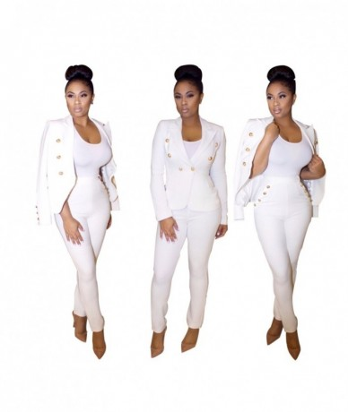 2016 Business attire Work Office autumn/winter women fashion Full sleeve coat outerwear Blazers pants suits Cardigan 3091 - ...