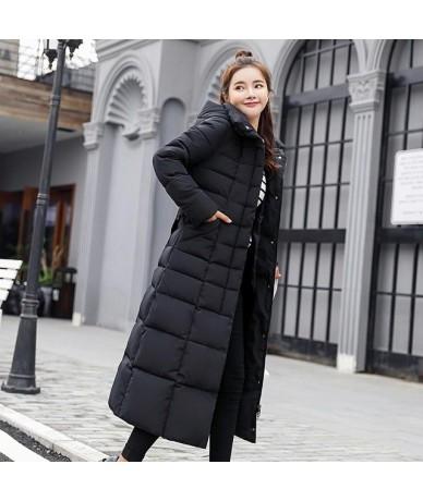 Long slim solid color women jacket parkas 2019 fashion winter jacket women parkas high quality winter female coat plus size ...