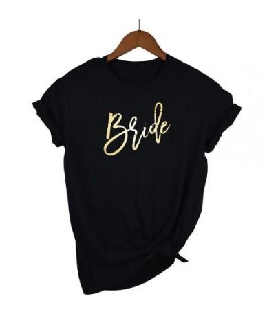 Bachelorette Party Wedding Bride Bridesmaid Maid Of Honor T-shirt Bridal Party Team Women Top Tee Casual Short Sleeve - blac...