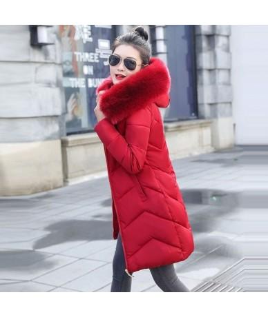 Warm Long Jacket Hooded Winter Jacket for Women parkas mujer 2019 New women's jacket fur collar Winter Coat Female plus Size...