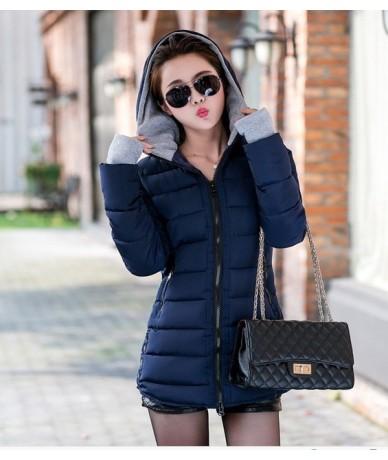parka women 2018 Winter Jacket Women's Coats Hooded Coats Female Parka Thick Cotton Padded Lining Winter women's Coats outwe...