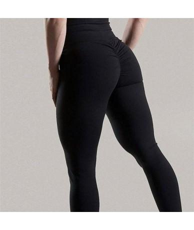 Sexy Push Up Leggings Women High Waist Workout Leggings Mujer Fashion Wrinkle Sportswear Leggings Femme 8Color - Black - 4C3...
