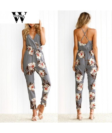 2017 new women gril fashion Hot Sale Lowest Price Clubwear Sleeveless Floral Print Party Jumpsuit Playsuit Beach Trouser oct...