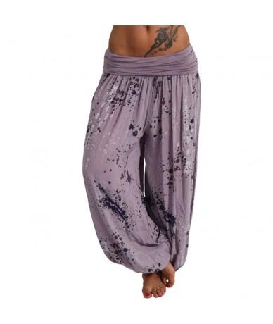 Plus Size S-5XL Pants Women Ladies Fashion Bohemia Printed Pockets Loose Leg Casual Comfortable Pants 10 Colors Штаны Wholes...