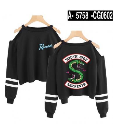 Riverdale Fashion Kpop Cropped Sweatshirt Women Off Shoulder Long Sleeve Sweatshirts 2019 Hot Sale Casual Streetwear Clothes...