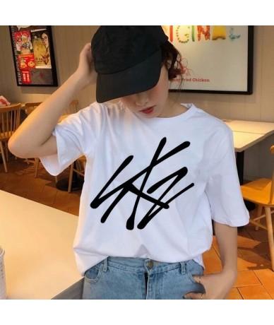 Stray Kids Women t-shirt StrayKids Short Sleeve t shirt Tops Hip Hop Harajuku tshirt top tee shirts hip hop female femme Cas...