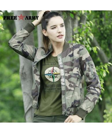 Fashion Casual Women Jacket Coat Light Weight Women's Jackets Camouflage Ladies Clothing Style Jacket Bomber 2018 Fall - Cam...