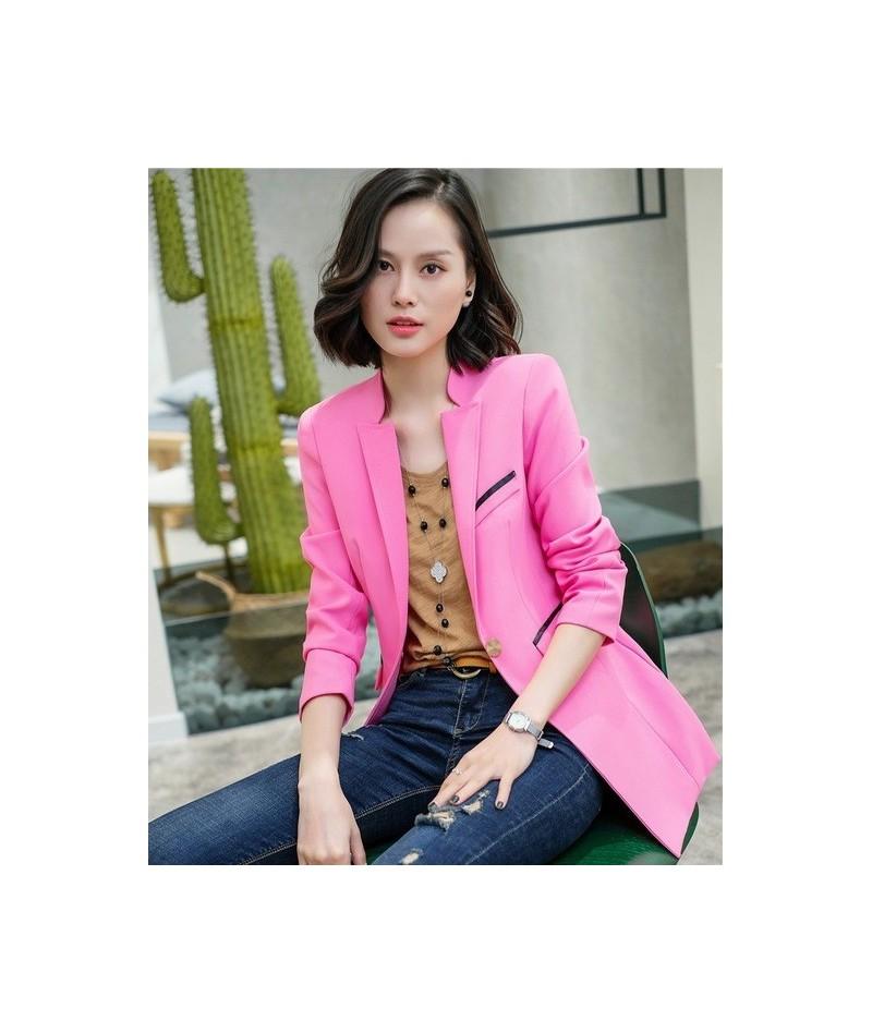 Fashion Office Ladies Blazers Women Jackets Coats Long Sleeve Elegant Female Work Wear Clothes Sky blue - Pink - 453056116782-3
