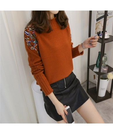 2019 Korean Fashion Women Sweaters and Pullovers Sueter Mujer Ruffled Sleeve Turtleneck Solid loose Sexy Elastic Women Tops ...