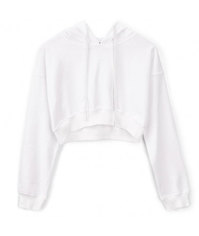 Women Autumn Winter Long Sleeve Crop Top Sweatshirt Hoodies Pullover Streetwear Girls Hip Hop Loose Short Sweatshirt Sweat F...