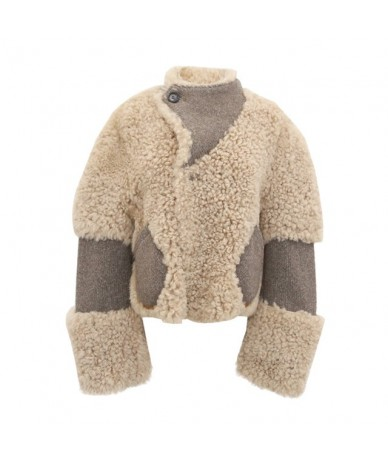 Women's Winter Jackets Coat Female Stand Collar Long Sleeve Single Button Short Coats Korean Fashion Clothes New - Khaki Coa...