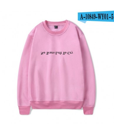 No Tears Left To Cry Oversized Sweatshirt Round Collar Casual Harajuku Simple Print Comfortable New Arrival Clothes - pink -...