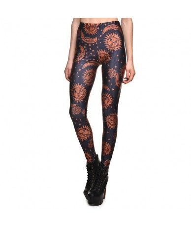 New 2018 Newspaper Daily Prophet Print Fitness Workout Push Up Women Leggings Slim Sexy Girl Hot Pants Plus Size - 3634 - 44...