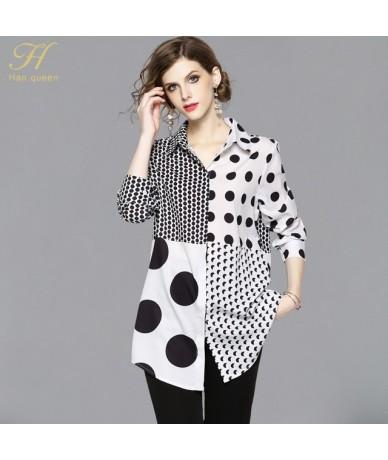 New Arrival Dot Print Shirt Women Blouse Vintage Work Casual Tops Blouses Plus Size Women Business Shirts - white - 4P399455...