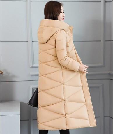 2018 Winter Jacket New Parka Coat Female Plus size Fashion Down Jacket Long Hoodie Down Thick Long Coat Jacket Women Clothin...