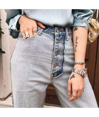Vintage Light Blue Washed Denim Jeans Women Pants Casual Single Breasted Denim Loose Pants High Waist Streetwear Femininas 2...