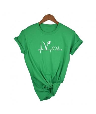 Vegetarian vegan Heartbeat Lifeline Women Tshirt Cotton Funny t Shirt For Lady Girl Top Tee Hipster Tumblr Drop Ship - Green...