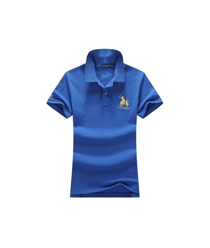 2019 Summer women Short-sleeved 100% Pique cotton big horse embroidery logo slim polo shirts fashion homme button placket - ...