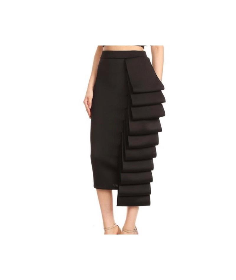 2019 Women Pencil Skirt High Waist Slim Midi Solid Modest Classy Female Package Hip Jupes Falad Officewear Elegant Femme Fas...