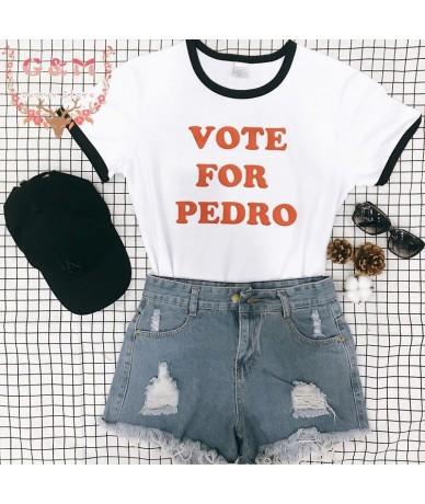 tumblr ringer fashion unisex cotton plus size tops VOTE For PEDRO tshirt crewneck short sleeve cool clothing Casual cute - b...