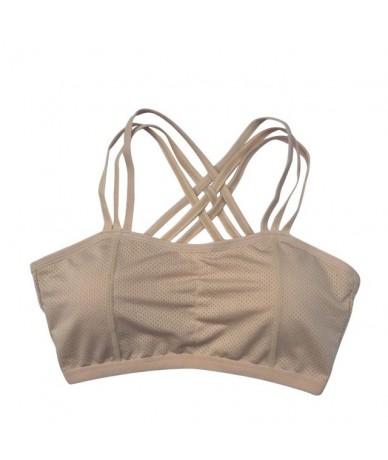 Women's Vest Bra Crop Top Seamless Fitness Bra Tank Tops Girls Wire Free Breathable Underwear Bra - Sports Bra - 4L3013309593-5