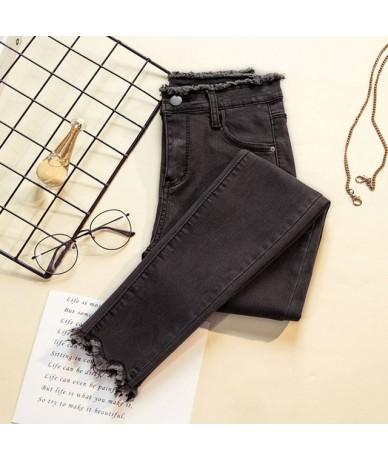 plus size 4XL high waist black Blue gray skinny jeans woman ripped mom jeans women stretch Ladies jeans denim jeans femme - ...