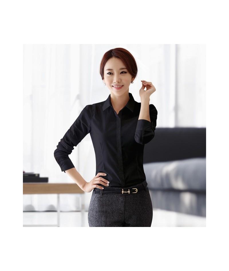 Womens Blouses Cotton Tops and Blouses Casual Long Sleeve Ladies Shirts Pink/White Blusas Plus Size XXXL/5XL Blusa Feminina ...