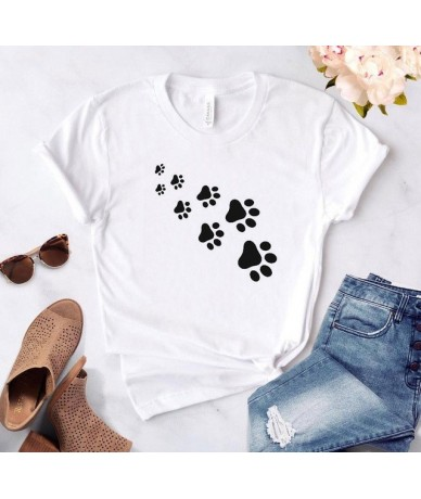 cat paws print Women tshirt Cotton Casual Funny t shirt For Lady Top Tee Lady Drop Ship Z-326 - White - 453822601140-4