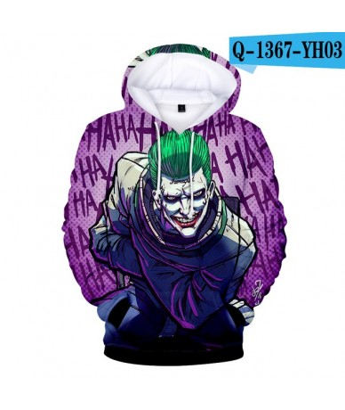 2018 Haha Joker Soft Pop Hoodies Women/Men Warm Long Sleeve Print Sweatshirts Hoodie Fashion Clothes - Sky Blue - 4630691112...