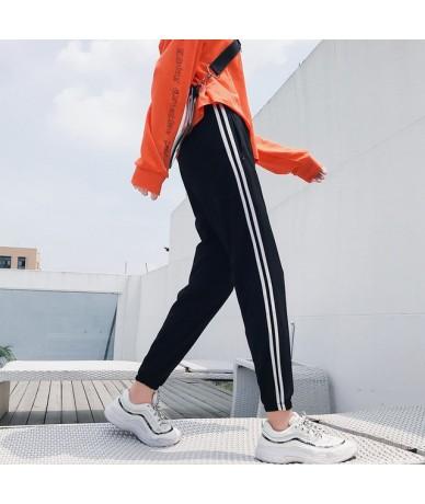 harajuku New Women Fashion Casual Comfy Fitness Pants Running Gym Sport High Waist Jogging Pants Trousers loose pink harm pa...