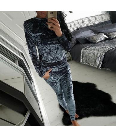 2018 Autumn Spring Plus Size Set Velvet Hoodies + Long Pants 2 Pieces Female Set Casual Tracksuit Velour Fashion Sportswear ...