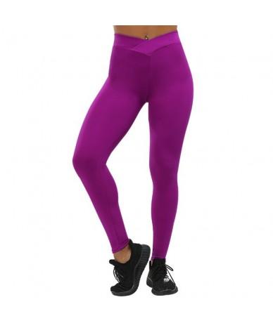 V-Waist Fitness Leggings Fashion Women Workout Legging Solid Slim Sporting Jeggings Plus Size Female Push Up Leggings - Rose...