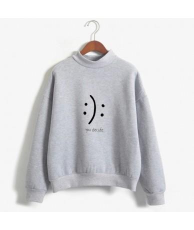 New YOU DECIDE Hoodie Sweatshirt Women Autumn Winter Long-Sleeved Fleece Hoodies Fashion Harajuku Print Pullovers - grey - 4...