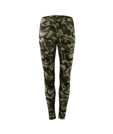 Camouflage Sport Leggings Women Workout High Waist Push Up Long Pants Costume Camouflage Printed Casual Leggings - Black - 5...