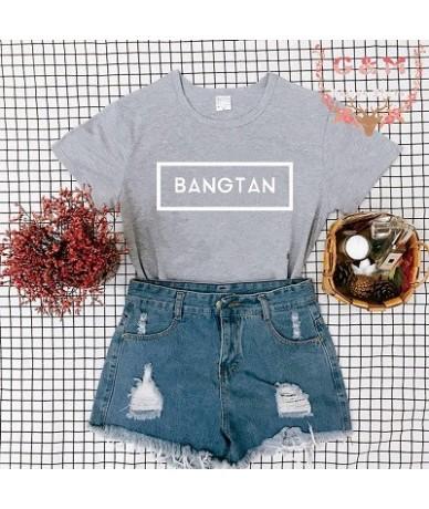 BANGTAN BOY T-shirt Cool Fashion Streetwear BangTan Graphic Tumblr Aesthetic Crewneck letter print clothes Tee Tops Femme Ko...