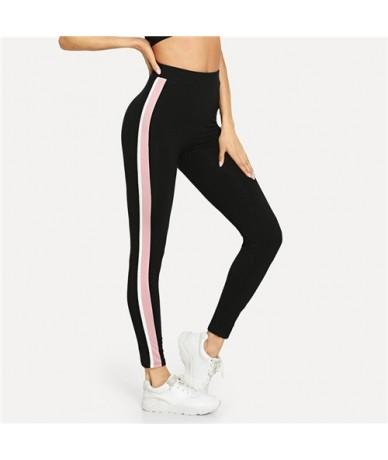 Leggings Women Pants Stripe Side Workout Leggings 2018 Autumn Fitness Legging Womens Clothing Sporting Trousers - Multi - 4V...