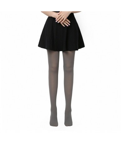 2019 Hot Classic Sexy Women 120D Opaque Footed Tights Thick Tights Women Fashion Tights - Grey - 4W3057289615-5
