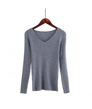 Autumn V Neck Sweater Knitted Fashion Womens Sweaters 2018 Winter Tops For Women Pullover Jumper Pull Femme Hiver Truien Dam...