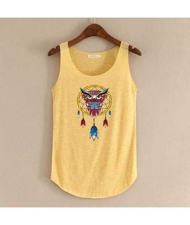 Spring Summer Super Cute Owl Printing Tops Tank Women O-neck Slim sleeveless T-shirt Ladies Top Shirts Feminina Tshirts Tees...