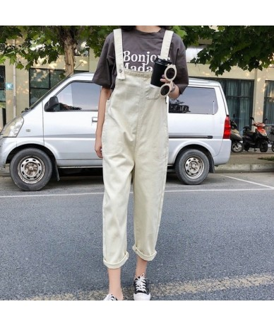 Black Beige Jumpsuit Women 2019 Casual Loose Overalls For Women Female Overall Ankle-length Pants Rompers Womens Jumpsuit - ...